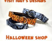 "1-1/2"" Martingale Collar Halloween Martingale Collar Spooky Greyhound Collar Italian Greyhound Whippet Collar Wide XLarge Collar Colorful"