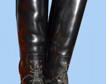 Women's Vintage  English riding boots Made in England UK Sz 5  1/2  and US 7 & 1/2