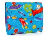 Animals In Space Deluxe Crayon Wallet with option to add a name, Crayon organizer, Art wallet, Crayon keeper, Art kit, Handmade toy, Art toy