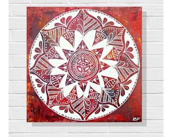 Original Art Painting / Canvas / Zendoodle Painting / Zendala Painting / Mandala Painting / Acrylic Painting / Art on Canvas