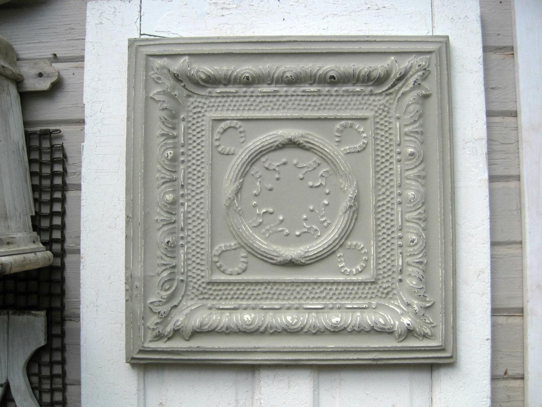 Vintage Ceiling Pressed Tin Tile 2 X2 Framed Metal