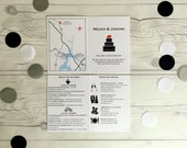 Wedding Welcome Card and Itinerary - Great for Destination Weddings - customize to ALL your needs (201)