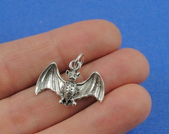 Bat Charm - Sterling Silver Bat Charm for Necklace or Bracelet