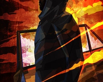 Luke Cage-Inspired Modernist Print