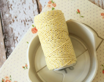 Saffron Yellow Cotton Bakers Twine 20m