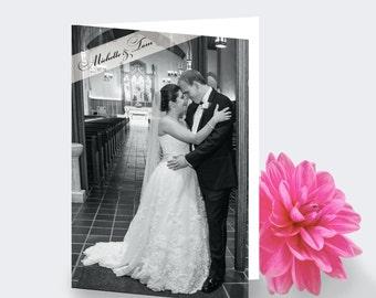 Wedding Photo Folded Thank You Card - Printing Deposit or Printable / Digital File