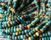 6/0 3 Cut Picasso Seed Beads Mixed Colors - Aged Picasso Seed Beads - Jewelry Making Supply - Beading Supplies - Choose Amount