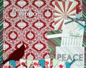 "PEACE -  Finished  12""x12"" Scrapbook Page - Christmas"