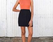 Vintage Minimalist 1990's Black Gap High Waisted Wrap Button Mini Skirt S/M 29
