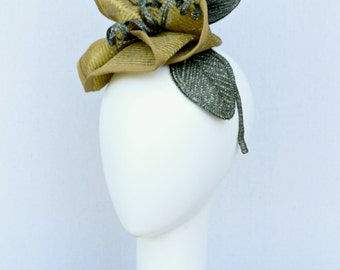 Flower Fascinator Hat - Goldenrod