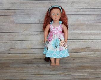 """American Girl Doll summer halter dress, fits 15-18"""" doll"""