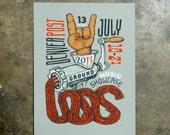 2013 Underground Music Showcase Grind - hand pulled screenprint poster