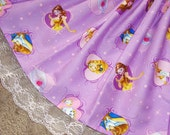 Belle Beauty and the Beast Purple Twinkle Skirt WITH LACE for Girls Toddler to Pre-Teen Custom Size