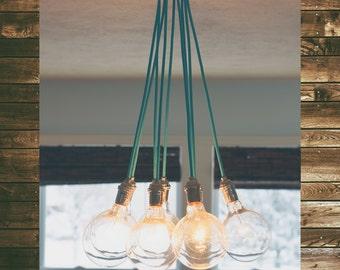 swag moderne prise en grappe lustre clairage pendentif. Black Bedroom Furniture Sets. Home Design Ideas