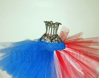 American Flag Tutu, Patriotic Tutu, Red, white and blue tutu, 4th of july tutu, homecoming tutu, american tutu, birthday tutu, flower girl