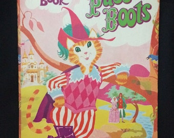 Vtg Puss in Boots Coloring Book - Children's - Unused