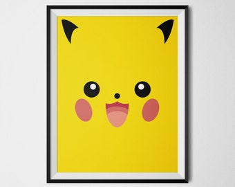 Pokemon Wall Decor squirtle pokemon decor pikachu art print charmander wall art