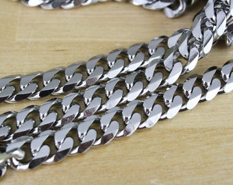 1 Foot ft Stainless Steel Large Chunky Curb Chain / Flat Link (1 Foot) 11x12mm [CHN14068]