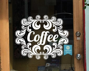 Coffee Window Decals