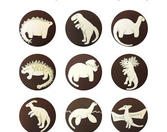 Hand Painted Knob -  Children's Custom Hand Painted Prehistoric Dinosaur Drawer Knobs Pulls or Nail Covers for Kids