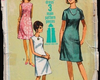 Simplicity 7072  Misses One-Piece Jiffy* Dress,Misses