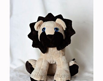 "CUSTOM 13"" Larry the Lion - Cuddly Lion - Stuffed Animal - Lion Plush Toy - Toys - Lion - Lion Softie - Custom Lion"