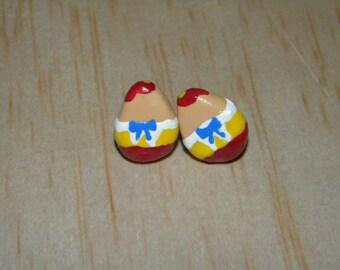 Minimalist Disney Tweedledum and Tweedledee Inspired Earrings
