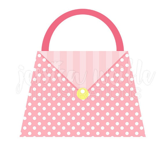 polka dot pink purse cute digital clipart fashion clip art fashion rh catchmyparty com cute purse clipart Purse Template Clip Art