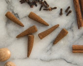 Holiday Spice - All Natural Hand Rolled Incense Cones - Bag of 6 or 12