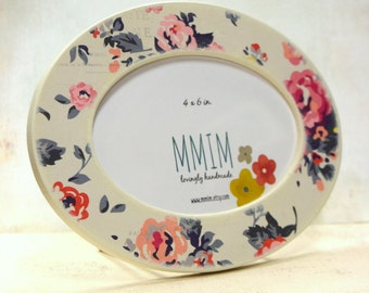 Cherish Oval Picture Frame, Photo Frame, Photo Frames, Feminine Collection Picture Frame, table top, Girls, Flora, Vintage flower
