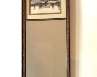 Mid-Century Combination Mirror & Picture Frame