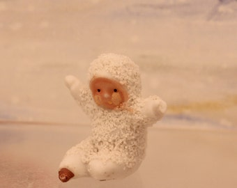 Antique Miniature Snowbaby Figurine made Germany early 1900s Christmas Decoration