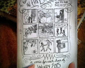 A Month In The Life Of: 2015! (Hourly comix for the entire month of January,  2015)