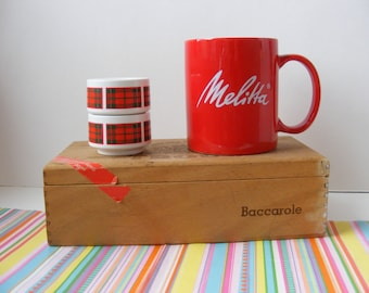 Melitta Mug Red Ceramic Big Handle, Melitta Coffee Mug, Pour Over Coffee, Melitta Tea, Melitta Cup