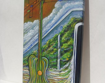 Hawaii Music Painting Musical Landscape Original Acylic by Dennis McGeary