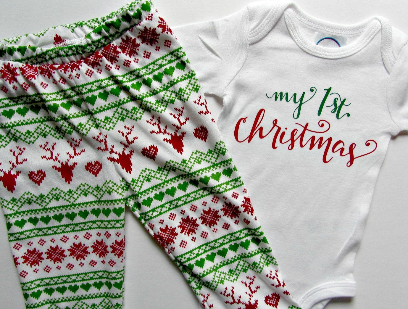 First Christmas Baby Outfit My First Christmas Baby Leggings