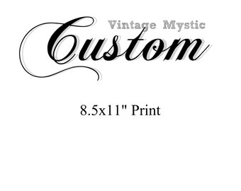 Vintage Mystic Custom Dictionary Art Print or Poster