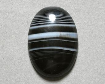 BLACK ONYX cabochon oval 18X25mm designer cab