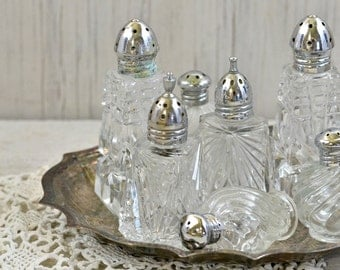 Vintage Salt and Pepper Shakers-Clear