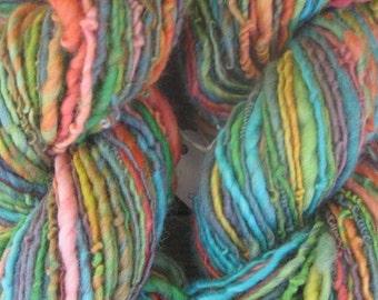 Art Yarn. Handspun Yarn. wool yarn, Thick and thin. Merino Yarn, - Circus!
