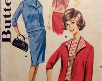 Vintage Sewing Pattern 1960s Mad Men Coordinates Skirt Blouse and Jacket Size 12