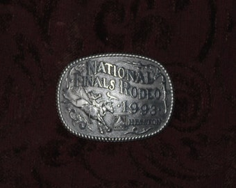 Vintage Rodeo Buckle 1993  Hesston Limited Edition / National Finals Rodeo