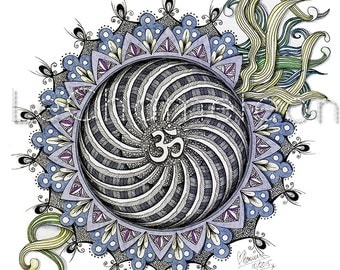 Namaste - Mandala - ZenTangle - Canvas Print