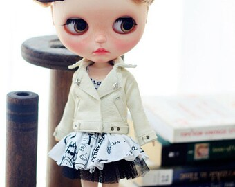 Sugarbabylove - White jacket set for Blythe