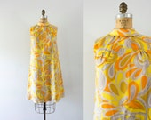 RESERVED | 1960s Golden Hour paisley mod dress / 60s sunshine