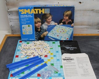 1986 'Smath Board Game by Pressman, Math Board Gamed, Educational Board Game