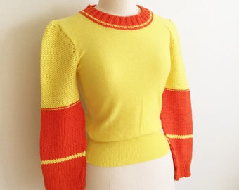 1970s rare early SONIA RYKIEL Wool Knit Sweater XS