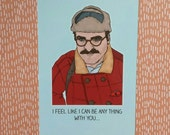 Joaquin Phoenix Postcard - Thedore from 'Her' film - A6 size