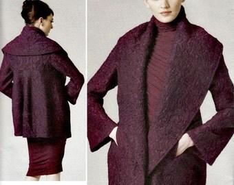 2001 High Fashion Shawl-Collar Jacket  VOGUE 1263  Donna Karan Collection Vogue American Designer  UNCUT, Factory-Folded  Size 4-16