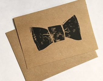 Handmade Bow Tie Card - Wedding, Just Because, Engagement